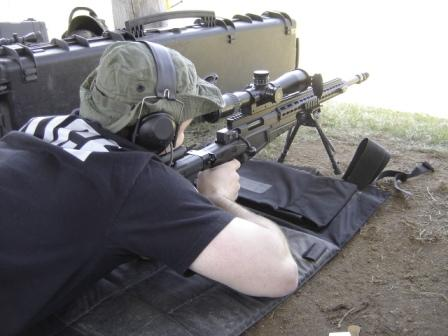 Police Sniper zeroing rifle